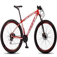 Bicicleta Aro 29 Dropp Rs1 Pro 24v Acera Freio Hidra E Trava - Vermelho/branco - 21
