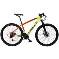 Bicicleta Aro 29 Dropp Z7x 21v Shimano, Suspen E Freio Disco - Vermelho/amarelo E Preto - 21''