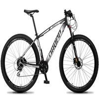 Bicicleta Aro 29 Dropp Rs1 Pro 24v Acera Freio Hidra E Trava - Preto/branco - 21´´ - 21´´