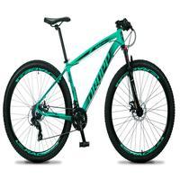 Bicicleta Aro 29 Dropp Rs1 Pro 21v Tourney Freio Disco/trava - Verde/preto - 17