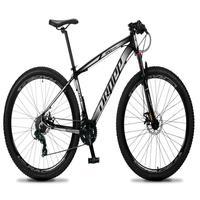 Bicicleta Aro 29 Dropp Rs1 Pro 21v Tourney Freio Disco/trava - Cinza/branco - 21