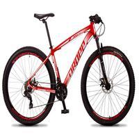 Bicicleta Aro 29 Dropp Rs1 Pro 21v Tourney Freio Disco/trava - Vermelho/branco - 19