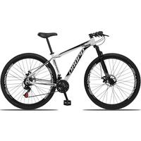 Bicicleta Aro 29 Dropp Aluminum 21v Suspensão, Freio A Disco - Branco/preto - 21