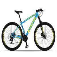 Bicicleta Aro 29 Dropp Z3x 21v Suspensão E Freio Disco - Azul/amarelo - 21''
