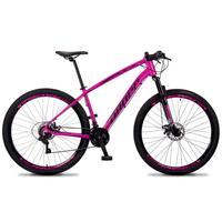 Bicicleta Aro 29 Dropp Tx 21v Shimano, Suspensão E Freio Disco - Rosa/preto - 17''