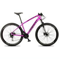 Bicicleta Aro 29 Dropp Tx 24v Acera, Susp E Freio Hidraulico - Rosa/preto - 17