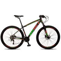 Bicicleta Aro 29 Gt Sprint Volcon 27v Susp E Freio Hidraulic - Preto/vermelho E Verde - 19''