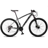 Bicicleta Aro 29 Spaceline Vega 27v Suspensão E Freio Hidral - Cinza/preto - 21''