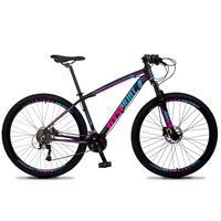Bicicleta Aro 29 Gt Sprint Volcon 27v Susp E Freio Hidraulic - Preto/azul E Rosa - 15''