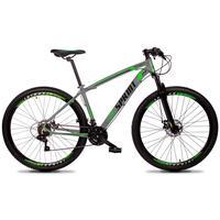 Bicicleta Aro 29 Gt Sprint Volcon 27v Susp E Freio Hidraulic - Cinza/verde E Preto - 15''