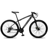 Bicicleta Aro 29 Spaceline Vega 21v Suspensão E Freio Disco - Preto/cinza - 17