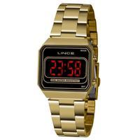 Relógio Lince Mdg4645l Pxkx Digital Feminino Dourado