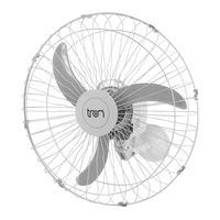 Ventilador De Parede Oscilante 60 Cm Bivolt Branco