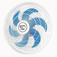Ventilador Maggie Parede Branco Oscilante 127v Pás Azul