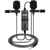 Microfone De Lapela Duplo Vokal Slm20 Profissional