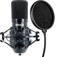 Microfone Condensador Xlr Vokal Sv80x Gravação + Pop Filter