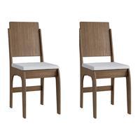 Conjunto 2 Cadeiras Em Mdf Tecido Corino 916 002