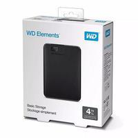 Hd Western Digital Externo 4tb Elements Preto