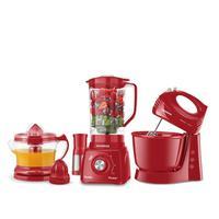 Conjunto Especial Mondial Cozinha Completa Red 3 Kt-105r 127v