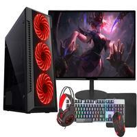 """Pc Gamer Completo Fácil, Amd A6 9500, Radeon R5 2gb, 16gb 2666mhz Ddr4, Hd 1tb, Monitor 19"""", Fonte 500w"""