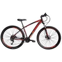 Bicicleta Aro 29 Ksw 21 Marchas Freios Hidraulico E K7 Cor:preto/laranja E Vermelhotamanho Do Quadro:17
