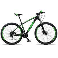 """Bicicleta Aro 29 Ksw 24 Marchas, Freios Hidráulico E K7, Cor: preto/verde, Tamanho Do Quadro: 17"""""""