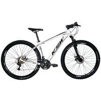 Bicicleta Aro 29 Ksw 21 Marchas Freios A Disco, K7 E Suspensão Cor: branco/preto tamanho Do Quadro:15