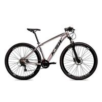 Bicicleta Aro 29 Ksw 21 Marchas Freio Hidraulico, Trava E K7 Cor:grafite/pretotamanho Do Quadro:19pol - 19pol