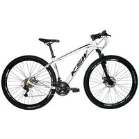 "Bicicleta Aro 29 Ksw Xlt 24 Marchas Shimano E Freios A Disco - Branco/preto - 15"""