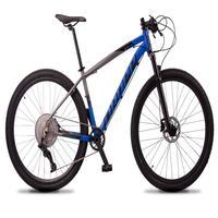 """Bicicleta Aro 29 Dropp Z7x 12v Absolute, C/trava E Fr. Hidra - Cinza/azul - 15"""""""