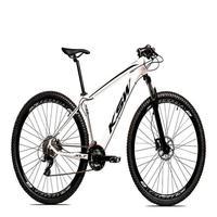 Bicicleta Aro 29 Ksw 21 Marchas Freio Hidráulico E Suspensão Cor: branco/preto tamanho Do Quadro:21  - 21