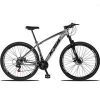 Bicicleta Aro 29 Ksw 24 Marchas Shimano, Freios A Disco E K7 Cor: grafite/preto tamanho Do Quadro:17  - 17
