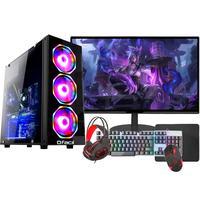 "PC Gamer Completo Fácil Intel I5 10400F, 8GB, GTX 750TI 4GB, HD 500GB, Monitor 21"", Fonte 500W"