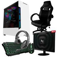 Pc Gamer Completo Start Nli82943 Amd 320ge 16gb vega 3 Integrado Ssd 240gb + Cadeira Gamer