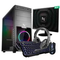 Kit - Pc Gamer Start Nli82878 Amd 320ge 16gb vega 3 Integrado Ssd 120gb + Monitor 19.5