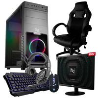Pc Gamer Completo Start Nli82923 Amd 320ge 8gb vega 3 Integrado Ssd 120gb e Cadeira Gamer