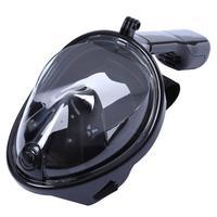 Máscara Mergulho Livre Snorkeling Full Face Para Gopro Tamanho S/m Cor: Preta