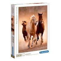 Puzzle 1000 Peças Cavalos - Clementoni - Importado