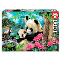 Puzzle 1000 Peças Ursos Pandas - Educa - Importado