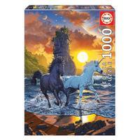 Puzzle 1000 Peça Unicórnios Na Praia - Educa