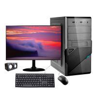 "Computador Desktop Corporate I3 Geração 10 8gb Ddr4 Ssd 120gb Kit Multimidia Monitor 19,5"""