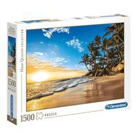 Puzzle 1500 Peças Praia Tropical - Clementoni - Importado