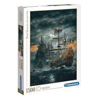 Puzzle 1500 Peças Navio Pirata - Clementoni - Importado