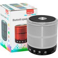 Mini Caixa De Som Portátil Speaker Ws-887 Prata - C