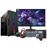 """PC Gamer Completo Fácil Intel I5 Terceira Geração, 8GB, GT 420 4GB, SSD 240GB, Monitor 19"""""""