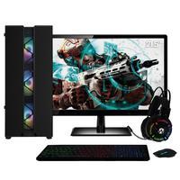 Pc Gamer Completo Amd Athlon 3000g placa De Vídeo Radeon Vega 3 Monitor 21.5'' Full Hd 8gb Ddr4 Ssd 120gb Hd 1tb 500w Skill Cool