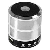 Mini Caixa De Som Portátil Speaker Ws-887 - Prata