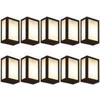Luminária De Parede Retangular Marrom Kit Com 10