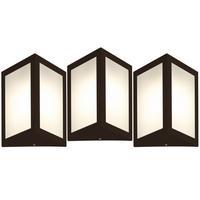 Luminária De Parede Triangular Marrom Kit Com 3
